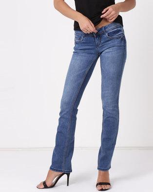 Sissy Boy Bootleg Jeans Med Blue