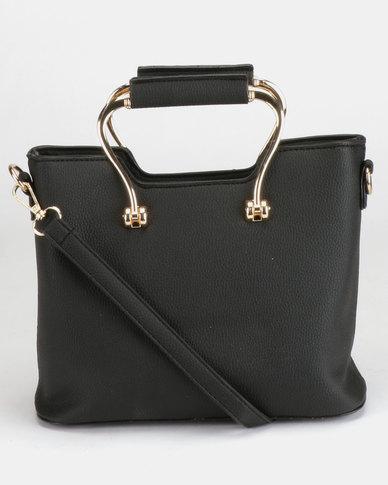 Utopia Handle Handbag Black
