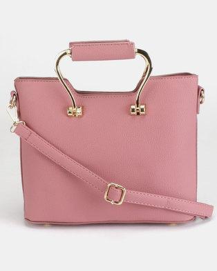 Utopia Handle Handbag Pink