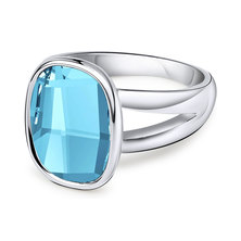 Dhia Jewellery Ring Made With Crystals From Swarovski Ocean Blue
