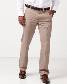 JCrew Fancy Flat Front Suit Trousers Taupe