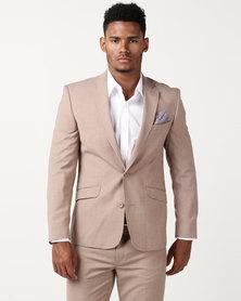 JCrew Fancy 2 Button Suit Jacket Taupe