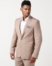 JCrew Fancy 2 Button Suit Jacket Longer Sleeve Length Taupe