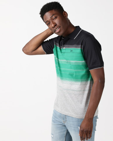 JCrew Stripe Mercerised Cotton Golfer Multi