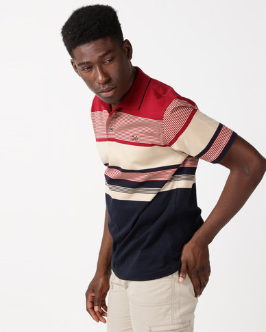 JCrew Multi Stripe Mercerised Cotton Golfer