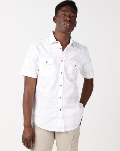 JCrew Raised Stitch Detail Short Sleeve Shirt Beige