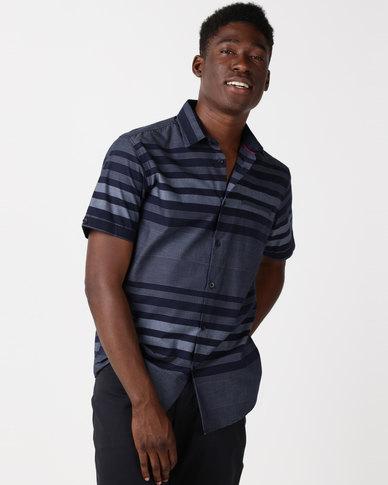 JCrew Denim Look Short Sleeve Shirt Indigo