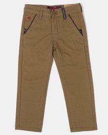 Soviet B Mills Slim Leg Chinos Khaki