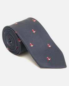 JCrew Anchor Tie Navy