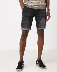 K Star 7 Sunbird Denim Shorts Grey Mottled