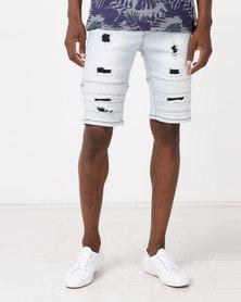 K Star 7 Mane Shorts Bleach Grey