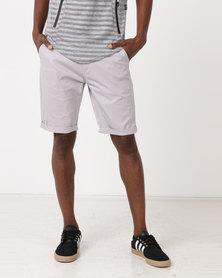K Star 7 Shine Chino Shorts Grey