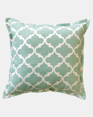 Fundi Light & Living Temple Aqua Scatter Cushion Green