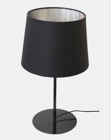 Fundi Light & Living Metal Upright Table Lamp Black