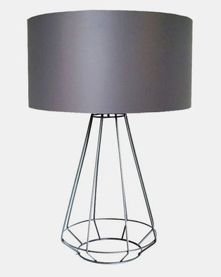 Fundi Light & Living Facet Table Lamp Grey