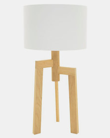 Fundi Light & Living Jaggered Table Lamp White