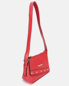 Blackcherry Bag Structured Cross Body Bag Red
