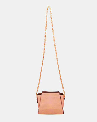 ea3fe0290ff7d6 Blackcherry Bag Origami Cross Body Bag Dusty Pink