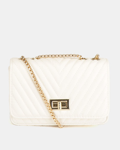 Blackcherry Bag Quilted Cross Body Bag Ivory
