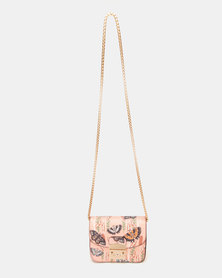 Blackcherry Bag Butterfly Crossbody Bag Blush