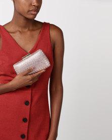 Blackcherry Bag Diamante Clutch Bag Bronze