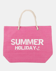 Blackcherry Bag Summer Beach Bag Fuschia