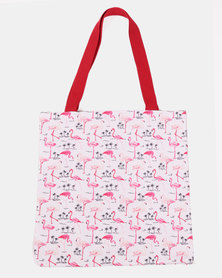 Blackcherry Bag Little Flamingo  Beach Bag Multi