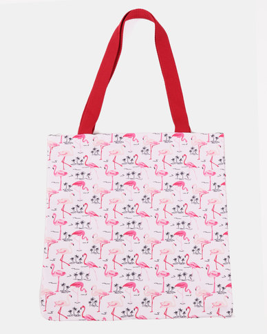 Blackcherry Bag Little Flamingo  Beach Bag Multi