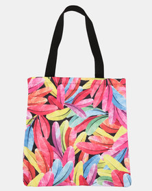 Blackcherry Bag Dark Leaves Beach Bag Multi