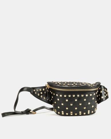 Blackcherry Bag Studded Moon Bag Black