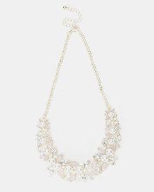 Bijoutique Statement Bib Pretty Necklace Pink/Gold