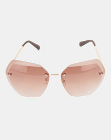 Bijoutique Large Sunglasses Brown
