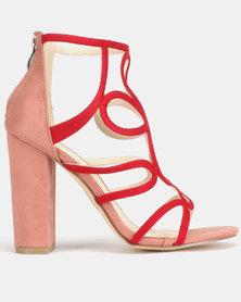 Plum Monik Heels Dusty Pink & Berry