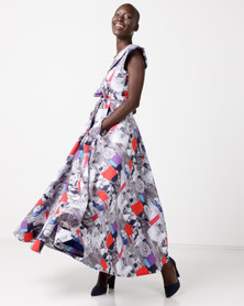 Jozsy Baraka Wrap Dress Multi