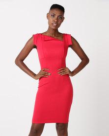 City Goddess London Chic Mad Men Style Dress Red