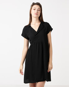 Tasha's Closet Baby Wrap Dress Black