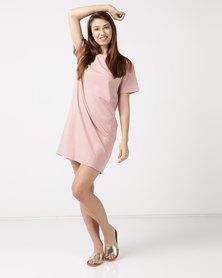 Tasha's Closet 21 Plain Shift Dress Peach