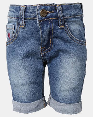 Soviet B Stettson Denim Shorts Mid Indigo
