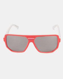 Von Zipper Roller Sunglasses Red/White/Navy/Silver Chrome