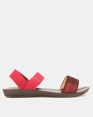 Candy Elasticated Sandals Burgundy