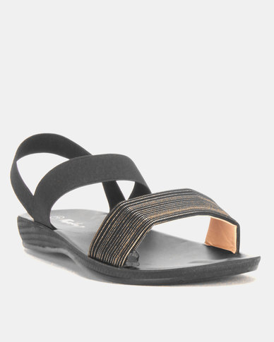 Candy Elasticated Sandals Black