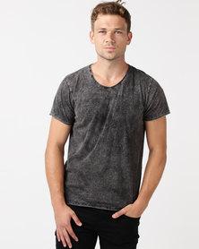 Unseen Caracle Acid Wash T-shirt Black