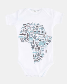 Home Grown Africa Icons Baby Grower White/Blue
