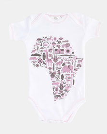 Home Grown Africa Icons Baby Grower White/Pink