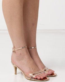 Utopia Kitten Heels Barely There Rose Gold