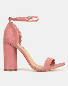 Madison Liz Cylindrical Scalloped Sandals Mauve