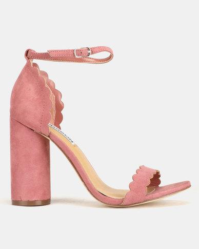 Madison Liz Cylindrical Scalloped Sandals Mauve