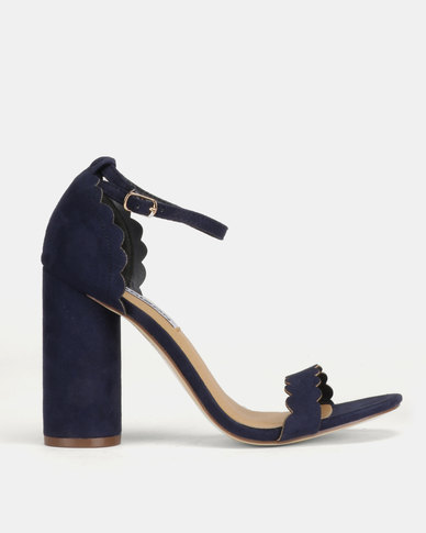 Madison Liz Conical Scalloped Sandals Blue