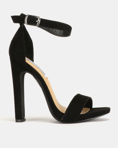 Madison Tiara Clean Ankle Strap Heeled Sandals Black