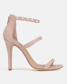 Madison Caile Pearl Trim Barely There Heeled Sandals Blush